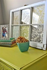 I have 2 of these waiting on me to make them pretty... this may be it!!Fabric in window. Pretty