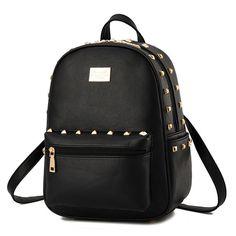 Women Men Rivet Faux Leather Backpack Casual Travel SchoolBag Book Shoulder Bags #Unbranded #Backpack