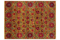 8'x10' Walton Rug, Gold/Red/Blue/10,500.00 now 5,999.00