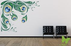 Great Peacock Wall Decal