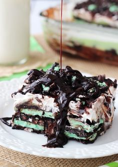 Mint Oreo Icebox Cake - HowToInstructions.Us