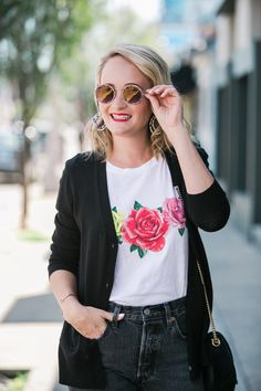 WILDFOX ROSE TEE