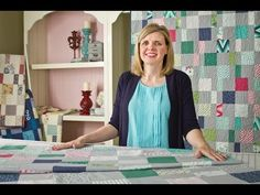 This charm quilt pattern is perfect for beginners, because it involves very little cutting and very simple piecing.