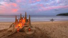 candles with sand - Google Search