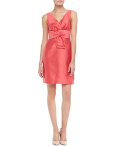 mina sleeveless dress with bow by kate spade new york at Neiman Marcus.