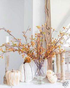 75 Rustic DIY Fall Decor Ideas - home sweet home - Mixed Fall Mantle Decor, Fall Home Decor, Autumn Home, Mantle Ideas, Modern Fall Decor, Modern Farmhouse Decor, Natural Fall Decor, Farmhouse Ideas, Seasonal Decor