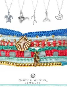 Get a piece of the beach and sea with a piece of jewelry!  http://beachblissliving.com/beach-resort-jewelry-summer-colors/