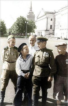 Russian boy soldiers
