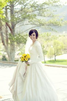#wedding #dress #sleeves #lace #modest #mormon #lds