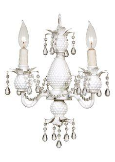 camilla milk glass 3-arm chandelier