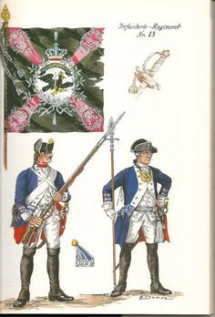 Prussia; Infantry Regiment Nr.13, c.1750 by G.Donn