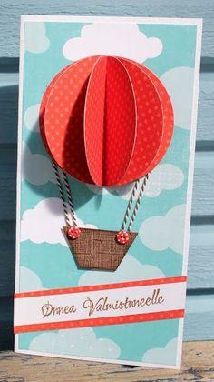 101 идея простых поздравительных открыток с днем рождения с воздушными шарами