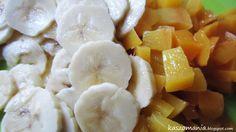 Kasza jaglana z bananem i brzoskwinią