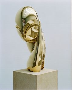 Mademoiselle Pogany II by Constantin Brancusi, polished bronze