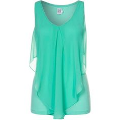 Saint Tropez Top ($46) ❤ liked on Polyvore featuring tops, shirts, tank tops, tanks, green, women's tops, green tank, green top, shirt tops and green shirt