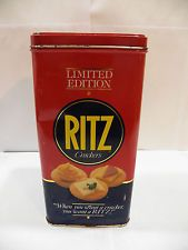 Vintage 1987 Ritz Limited Edition Nabisco Cracker Tin Square Rectangular