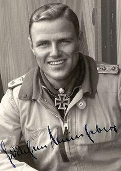 Joachim Müncheberg, Luftwaffe Fighter Pilot Ace.