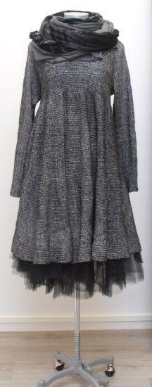 rundholz black label - Strickkleid Cotton Knit black melange - Winter 2015