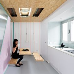 """Spanish firm Elii Architects has recently completed 'Didomestic', the refurbishment of an attic in downtown Madrid."""