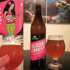 Drinking the 5th annual release of Treasure Chest by @greenflashbeer - This #IPA is brewed with grapefruit prickly pear & hibiscus flower  || This beer also raises money for Breast Cancer Awareness and Services in San Diego via @komensandiego