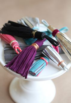 DIY: leather tassels