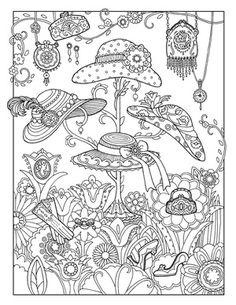 Hang on to Your Hat ~ Fanciful Fashions Coloring Book: Marjorie Sarnat