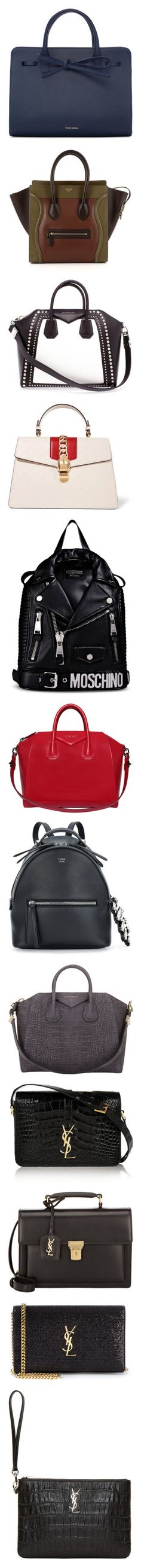 """Bags"" by crazysoshi ❤ liked on Polyvore featuring bags, handbags, tote bags, purses, navy, mansur gavriel tote, man bag, leather purses, mini leather tote and navy blue leather handbags"