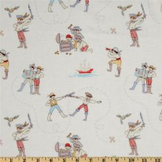 Michael Miller Out To Sea A Pirates Life WhiteItem Number: FV-390 Our Price: $8.98 per Yard Compare At: $10.99 per Yard