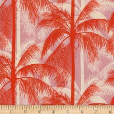 Cotton + Steel Fat Quarter Poolside Palms in Pink by Alexia Abegg Melody Miller Palm Tree Fabric Modern Fabric Retro Quilt Red Pink Fabric Baby Fabric, Pink Fabric, Tropical Quilts, Palm Tree Silhouette, Tree Quilt, Home Decor Fabric, Cool Diy Projects, Accent Decor