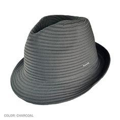 Kangol Spiral Tex Arnold Fedora Hat (Charcoal) Fedora Hat 3282df993b06