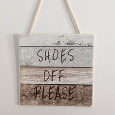 No Shoes Sign: Shoes Off Please Signs: Quality made from wood that read 'Please Remove Your Shoes' or 'Shoes Off Please' to take or kick your shoe off at the entrance door hand made & crafted by Zen Gifts, great gift ideas. ZenGifts.com.au