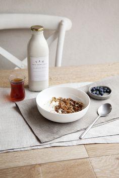 Photography by Elisa Watson. Pictured: Fresh Organic Goods Almond Milk.