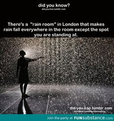 Control the weather in the Rain Room at the Curve, Barbican Centre, London Places to travel 2019 If this is true, it is now on my bucket list. Cool Places To Visit, Oh The Places You'll Go, Places To Travel, Travel Stuff, The Meta Picture, The Last Summer, Just Dream, Before I Die, I Want To Travel