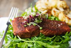 butter-seared porcini-crusted salmon recipe | use real butter