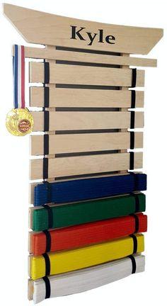 Taekwondo Belt Display, Martial Arts Belt Display, Taekwondo Belts, Martial Arts Belts, Jiu Jitsu Belts, Cool Bedrooms For Boys, Award Display, Karate Belt Holder, Fitness Equipment