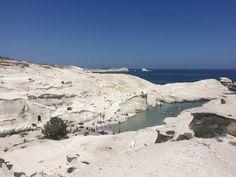 Sarakiniko beach and ro k formations