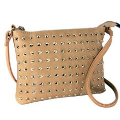 CALEA Beige Studded Mini Handbag