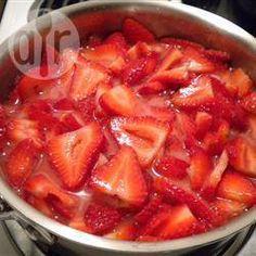Relleno de fresa para pastel