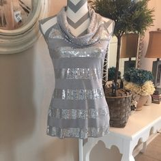 """HPx2 WHBM Sequin Top Sharp sequined top from White House Black Market. New without tags. 70%cotton &30%polyester, hand wash. 16.5"""" across bust & 25"""" long from shoulder, 18"""" from under arm to hem. White House Black Market Tops Tunics"""