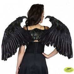 Sm Maleficent Inspired Feather Wings Black
