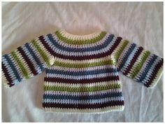 Jersey de bebe (chambrita) crochet #tutorial 1 - YouTube Pull Crochet, Crochet Bebe, Crochet For Boys, Knit Crochet, Crochet Baby Sweaters, Baby Knitting, Knitting Videos, Crochet Videos, Different Crochet Stitches
