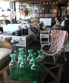 Green Bottles, The Silk and Cotton Co. showroom