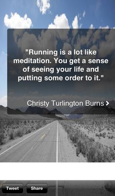 Running is a lot like meditation. Quotes, fitness, running. - If you like this pin, repin it, like it, comment and follow our boards :-) #FastSimpleFitness