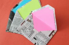 12 Creative Ways to Repurpose Newspaper: Envelopes