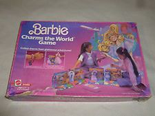 VINTAGE BOXED BARBIE CHARMS THE WORLD GAME MATTEL 1985 BRACELETS NR COMPLETE
