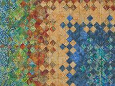 Batik Blooming Nine Patch  Quilt Photo 6