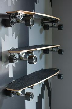 Longboard Storage Idea by: Garage Pictures From HGTV Urban Oasis 2015