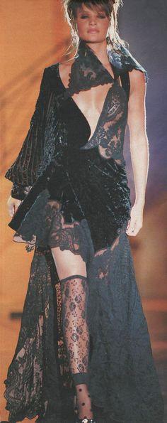 Helena Christensen @ Versace Couture Fall 1993