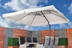 September zon op komst ? Geniet in de schaduw van de Parasol Blagnac. Bekijk snel het gehele assortiment op www.tuindeco.com of informeer bij uw dealer in de buurt.
