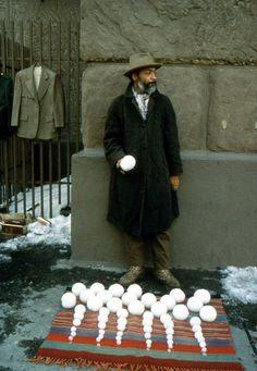 David Hammons, Bliz-aard Ball Sale, 1983  Outside Cooper Union
